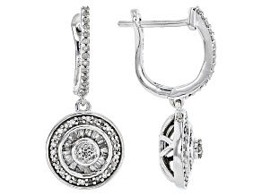 White Diamond 10k White Gold Earrings .45ctw
