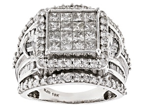 White Diamond 10k White Gold Ring 2.80ctw