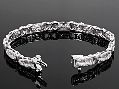 White Diamond 10k White Gold Bracelet 2.10ctw
