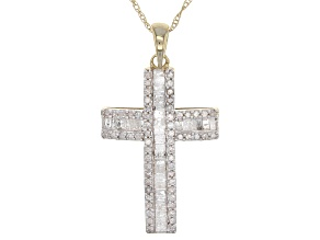 White Diamond 10k Yellow Gold Pendant .55ctw