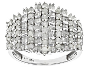 White Diamond Rhodium over Sterling Silver Ring 1.50ctw
