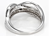 White Diamond Rhodium over Sterling Silver Ring .45ctw