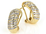 Diamond 14k Yellow Gold Over Sterling Silver Earrings 1.00ctw