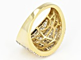 White Diamond 14k Yellow Gold Over Sterling Silver Ring 1.00ctw