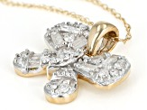 White Diamond 10k Yellow Gold Pendant 0.50ctw