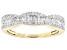 White Diamond 10k Yellow Gold Band Ring .50ctw