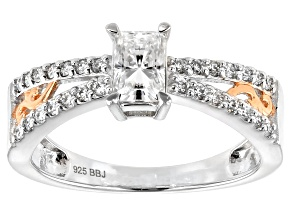 S/S .84ctw Oct/Rd   Moissanite Rg /Sz 8 /Not Szbl /Platineve/Flash 14k Rg