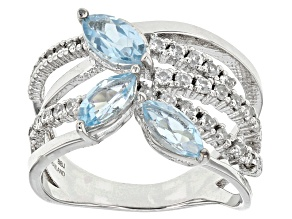Blue Topaz Sterling Silver Ring 2.06ctw