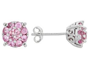 Pink Spinel Sterling Silver Earrings .82ctw