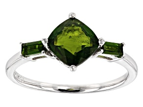 Green Chrome Diopside Sterling Silver Ring 1.57ctw
