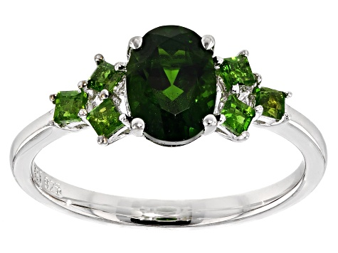 Green Chrome Diopside Sterling Silver Ring 1.51ctw