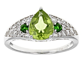 Green Peridot Sterling Silver Ring 2.03ctw
