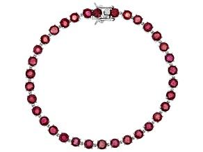 Mahaleo Ruby Sterling Silver Bracelet 10.98ctw