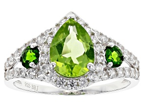 Green Peridot Sterling Silver Ring 2.59ctw