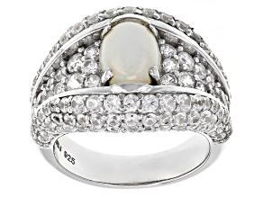Multi Color Ethiopian Opal Sterling Silver Ring 5.32ctw