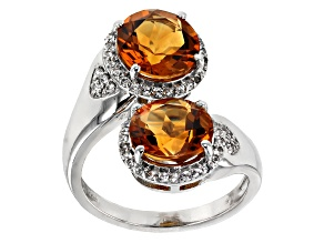 Yellow Citrine Silver Ring 4.69ctw