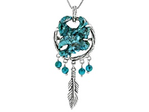 Turquoise Sterling Silver Eagle Pendant With Chain