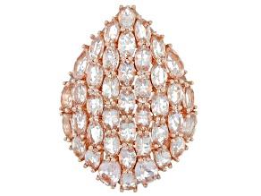 Pink Morganite Silver Pendant 6.54ctw