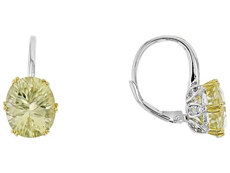 Yellow Quartz Silver Earrings 5 83ctw