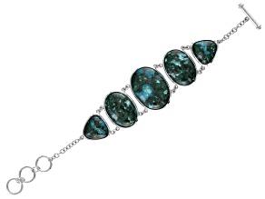 Green Chrysocolla Sterling Silver Bracelet