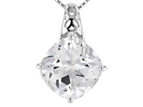White Danburite Silver Pendant With Chain 4.21ct
