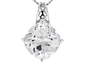 White Danburite Silver Pendant With Chain 4.21ct