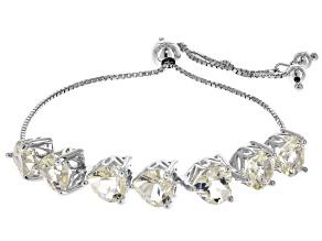 Yellow Labradorite Sterling Silver Bracelet 12.32ctw
