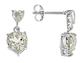 Yellow Labradorite Silver Earrings 2.41ctw