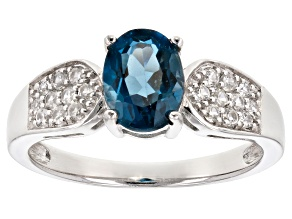 Blue Topaz Sterling Silver Ring 1.73ctw