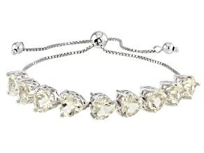 Yellow Labradorite Silver Bracelet 12.62ctw