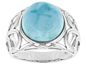 Blue Larimar Silver Ring