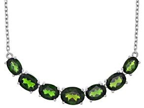 Green Chrome Diopside Sterling Silver Necklace 7.98ctw
