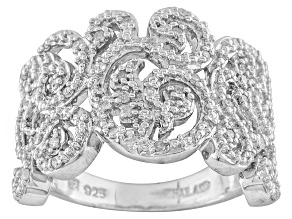 Diamond Sterling Silver Filigree Ring .24ctw