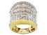 White Diamond 14k Yellow Gold Over Silver Ring 3.00ctw