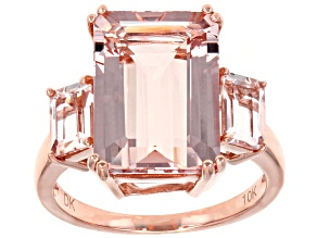Pink Morganite 10k Rose Gold Ring 7.06ctw