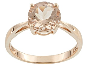 Pink Morganite 10k Rose Gold Solitaire Ring 1.50ct.