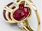 Mahaleo Ruby 10k Yellow Gold Ring 10.74ctw.