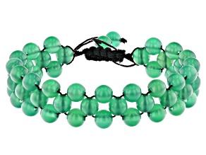 Round Green Onyx Threaded Bracelet