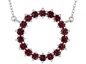 Purple Rhodolite Rhodium Over Sterling Silver Necklace 2.30ctw