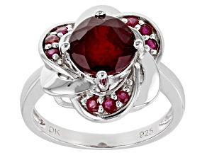 Red Mahaleo® Ruby Rhodium Over Sterling Silver Ring 2.41ctw