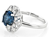 London Blue topaz rhodium over silver ring 2.27ctw