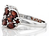 Red Garnet Rhodium Over Silver Ring 3.34ctw