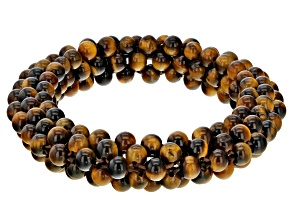 Yellow Tiger's Eye Knitted Stretch Bracelet