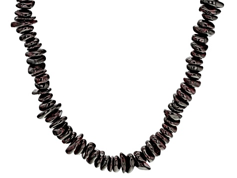 Red Garnet Sterling Silver Necklace