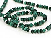 Green malachite rhodium over sterling silver necklace