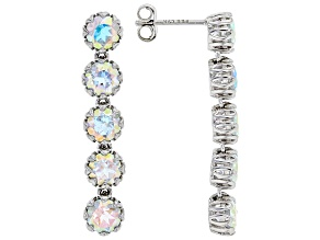 Multi-Color Mercury Mist® Topaz Rhodium Over Sterling Silver Dangle Earrings 5.53ctw