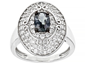Platinum Color Spinel Rhodium Over Silver Ring 1.92ctw