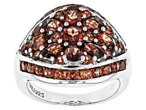 Red Garnet Sterling Silver Ring 3.26ctw