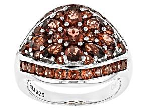 Red Garnet Sterling Silver Ring 3.26ctw
