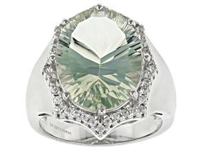 Green Prasiolite Sterling Silver Ring 8.50ctw